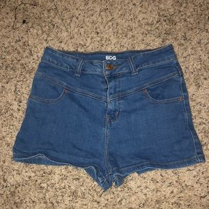 BDG/Urban Outfitters Blue Jean High Waisted Shorts
